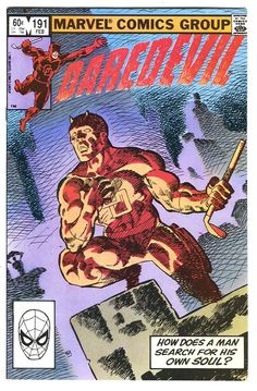 The first DAREDEVIL comic book I ever read. Issue 191. Daredevil plays roulette with Bullseye. Frank Miller at his best.