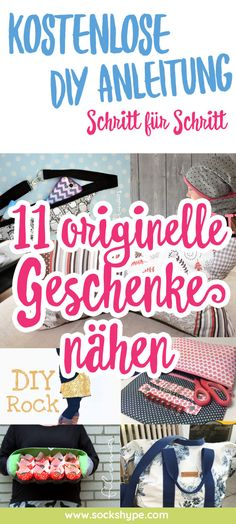 ▷ 11 originelle Geschenke nähen mit kostenlosen Anleitungen   sockshype.com