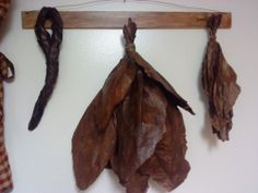Faux Tobacco on Lathe Drying Hanger.