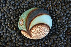 Mini Ceramic Sculpture or Wall Hanging - Abstract Sea Urchin, art inspired by nature (by Meagan Chaney)