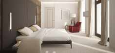 This simple bedroom would be a perfect retreat for guests.Redecorate online with your own furniture! noneed2buy.com