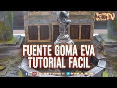 FUENTE GOMA EVA TUTORIAL FACIL ESCENOGRAFIA WARGAME - YouTube