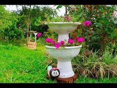 Aprenda a fazer um vaso de flor de dois andares! - YouTube