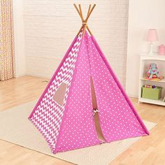 KidKraft Deluxe Play TeePee Pink / White - Children's Playhouse or Play tent, http://www.amazon.co.uk/dp/B00NP7F1UE/ref=cm_sw_r_pi_awdl_8IO9vb17DWFNJ