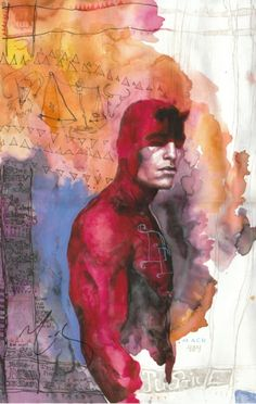 One of my favorite Daredevil comic covers, by David Mack.