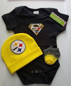 Pittsburgh Steelers baby outfit-Steelers baby boy shower gift-Steelers  newborn-Pittsburgh Steelers take home steelers baby newborn steelers 50f08a625