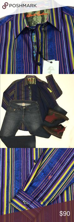 Robert Graham NWT dress shirt classic fit M NWT never used, classic fit Robert Graham Shirts Dress Shirts