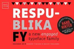 Respublika FY Extra Bold Italic by BlackFoundry on @creativemarket