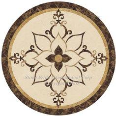 Water Jet Medallions 4 Floors & Medallions 4 Walls or Ceilings. Foyer Flooring, Stone Flooring, Aztec Drawing, Plate Art, Floor Patterns, Stone Mosaic, Estilo Retro, Decoration, Marquetry