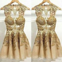 iloving welcomes you to select grey cocktail dress,long dresses cheap and long sleeve cocktail dress on Dhagte.com. sexy fashion new arrival gold prom short dresses with lace and applique a-line mini sweet 16 drsses cocktail dress is on sale now.