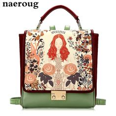 130.51$  Watch here - http://vikac.justgood.pw/vig/item.php?t=dcds15m47360 - Luxury Girls Backpack Leather Women Bags Designer School Bag for Lady Girls Drea