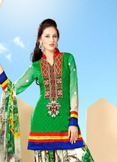 FABFIRKI New Designer Green and White Salwar Suit http://www.fabfirki.com/ mobile number +91 8401201300(whatsapp number)