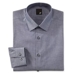 JF J. Ferrar Cotton Dress Shirt - Slim Fit  found at @JCPenney  Chech the other color that called Blue/Navy