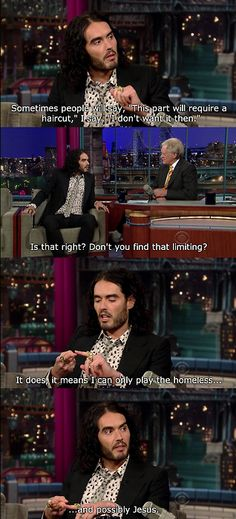 russell brand on his hair