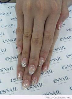 Perfect silver glitter gradient