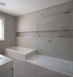 Mortex - legplank douche Modern Shower, Modern Bathroom, Small Bathroom, Master Bathroom, Bathroom Bath, Bath Shower, Washroom Design, Bathroom Interior Design, Japanese Style Bathroom