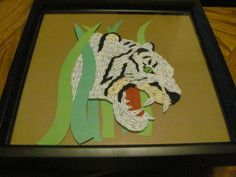 Quilled White Tiger  made by Paula Hogue