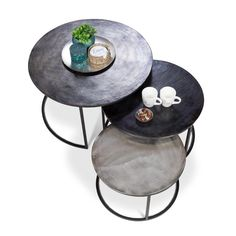 Concrete Furniture, Metal Furniture, Home Furniture, Furniture Design, Outdoor Furniture, Home Coffee Tables, Coffee Table Design, Centre Table Design, Cosy House