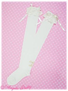 Princess Logo OTKs (White) - Angelic Pretty