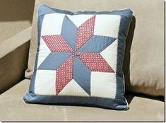 A almofada patchwork e um charme