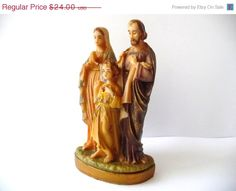 20 OFF CIJ SALE Sacred Family Jesus Mary & by PortugueseWonders, $19.20