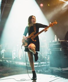 Haim---the bass player is my new girl crush. love her style, and she's such a badass