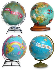 How About Orange Next time I can get my hands on a globe I think I may just make one of these for myself!