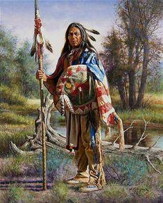 Alfredo Rodriguez, (American, b. Land of the Free, 1998 Native American Warrior, Native American Wisdom, Native American Women, American Indian Art, Native American History, American Indians, Native American Paintings, Native American Artists, Indian Paintings