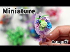 [추석선물] 미니어쳐 꽃다발(꽃 6가지) 만들기 * Miniature - YouTube