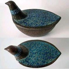 Vintage Mid Century Modern ALLA MODA Italian BERTONCELLO Pottery Sculpture Bird