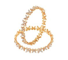 Diamond bangle with a very modern design..
