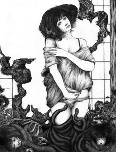 """Mnemonsyne III""   One of the many incredible drawings by Zakuro Aoyama!"