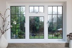 White inside of Aluminium Casement windows looking out