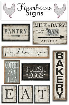 I found the best ETSY shop. They have the cutest style signs over 400 wood signs to choose from. I promise if you like farmhouse style they have something you will LOVE! Vintage Wood Signs, Rustic Signs, Rustic Decor, Wooden Kitchen Signs, Wooden Signs, Farmhouse Chic, Farmhouse Kitchens, Pantry Sign, Homemade Signs