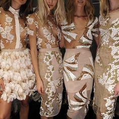 Runway Details: Blumarine, Spring/Summer 2014 Backstage at Milan Fashion Week Haute Couture Style, Couture Mode, Couture Fashion, Runway Fashion, High Fashion, Womens Fashion, Milan Fashion, Fashion Details, Fashion Design