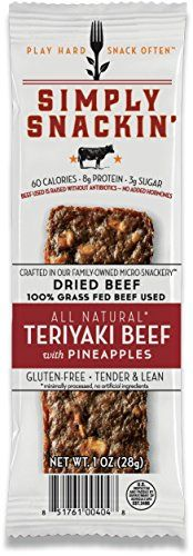 Simply Snackin  ALL Natural Teriyaki Beef with pineapples 12 snacks -- Read more  at the image link.