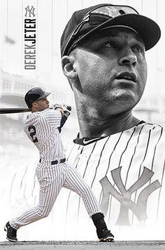 """Derek Jeter """"Yankee Forever"""" New York Yankees MLB Baseball Poster - Costacos 2014"""