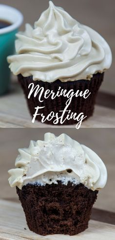 Fluffy, sweet, light and delicious -  Meringue Frosting.