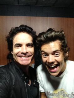 Harry Styles with Patrick Monahan, the lead singer of the band Train