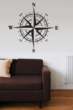 Compass Rose Vinyl Wall Decal  Large 22h x 22w by walltowalldecals, $34.99