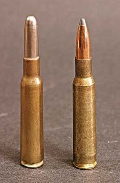 The Magnificent 7×57 Mauser | Guns Magazine | The original military load of the 7×57 used a 173- to 174-grain roundnose bullet, eventually replaced by spitzers of around 140 grains, like the hunting load on the right. | Click: http://gunsmagazine.com/the-magnificent-7x57-mauser/