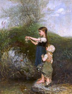 """Emil Keyser, """"Junge schwestern"""" (""""Young Sisters"""")"""