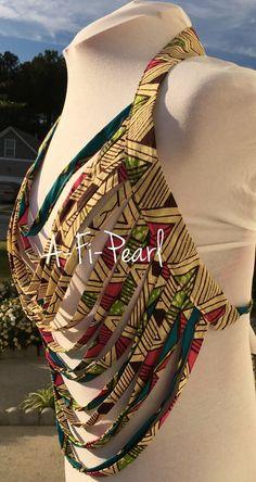 Bright Ankara Body Necklace - Thumbnail 1