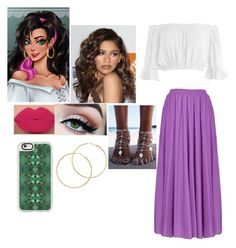"""Esmeralda"" by batmanlovesnutella ❤ liked on Polyvore featuring Sans Souci, Coleman, Casetify and Melissa Odabash"