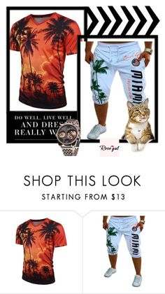 """""""Rosegal  53"""" by dzenanlevic99 ❤ liked on Polyvore featuring men's fashion and menswear"""