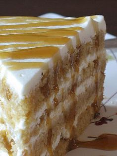 Butterscotch Mascarpone Cream Layer Cake. Does this not look heavenly? Oh mercy...slice it up please:)