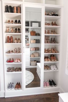 Happy Friday, everyone! I'm so excited to FINALLY share my completed master closet renovation with California Closets today! When I f is part of Bedroom organization closet - Walk In Closet Design, Bedroom Closet Design, Master Bedroom Closet, Closet Designs, Bedroom Decor, Mirror Bedroom, Bedroom Ideas, California Closets, Bag Closet