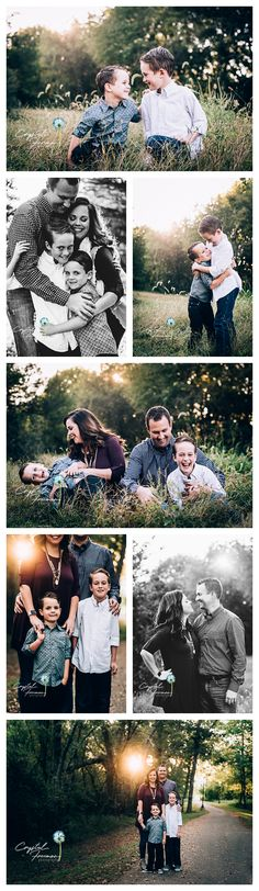 Family of Four outdoor portrait session poses with four boys. Connection and joy. Spring Hill, TN Family Photographer