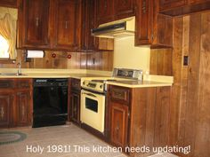 HOLY 1981!! Need some inspiration to update your kitchen? Look how easy this was for them!! Truly Incredible Transformation!!