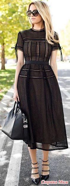 Платье в филейной технике - Вязание - Страна Мам